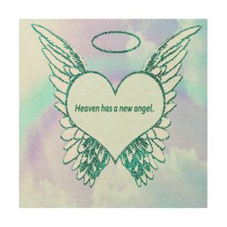 Heaven has a New Angel Wood Print