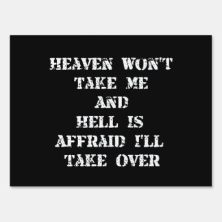 Heaven Hell Signs