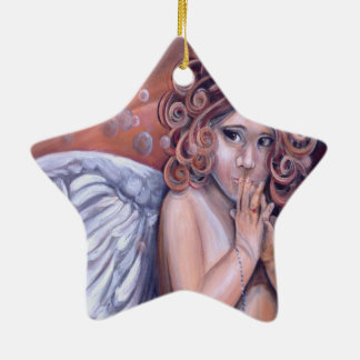 Heaven in my Hands Angel Design Ceramic Ornament