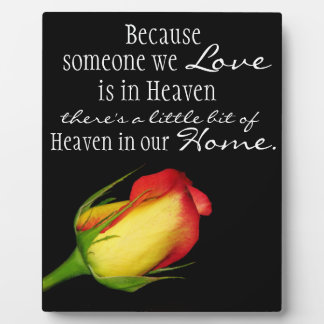 Heaven in our home plaque