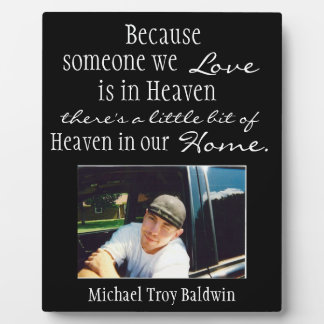 Heaven in our home photo plaque