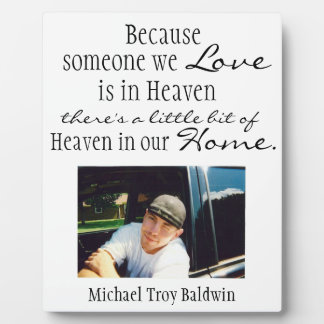 Heaven in our home display plaque