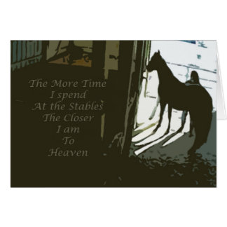Heaven in the Stable Card