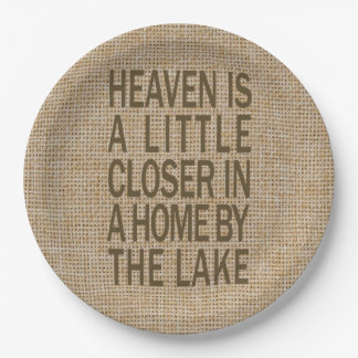 Heaven is Closer by Lake Paper Plates