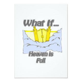 heaven is full personalized invitation