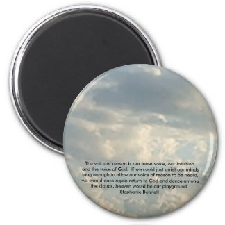 Heaven is our playground 2 inch round magnet