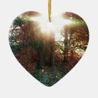 Heaven Let Your Light Shine Down Ornaments