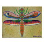 Heaven n Hell Dragonfly  Poster