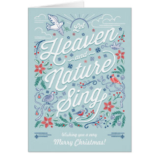 Heaven & Nature Sing Christmas Greeting Card Mint