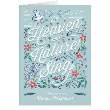 Christmas Themed Heaven & Nature Sing Christmas Greeting Card Mint