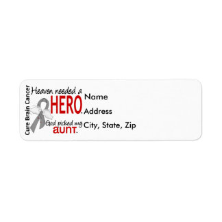 Heaven Needed a Hero Aunt Brain Cancer Label