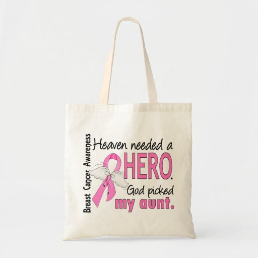 Heaven Needed A Hero Aunt Breast Cancer Bag