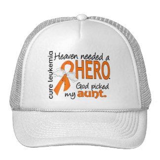 Heaven Needed a Hero Aunt Leukemia Trucker Hat