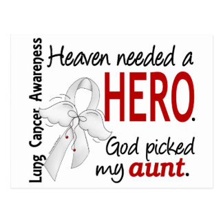 Heaven Needed a Hero Aunt Lung Cancer Postcard