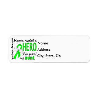 Heaven Needed a Hero Aunt Lymphoma Label