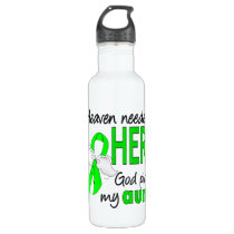 Heaven Needed a Hero Aunt Lymphoma Water Bottle