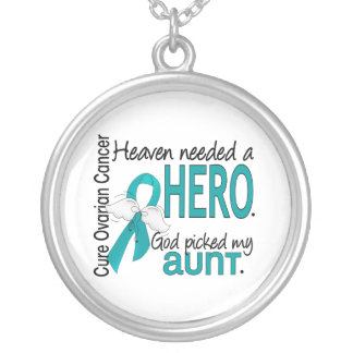 Heaven Needed a Hero Aunt Ovarian Cancer Jewelry