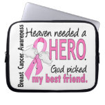 Heaven Needed A Hero Best Friend Breast Cancer Computer Sleeves