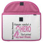 Heaven Needed A Hero Best Friend Breast Cancer Sleeve For MacBooks