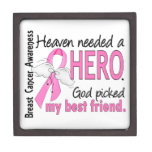 Heaven Needed A Hero Best Friend Breast Cancer Premium Gift Boxes