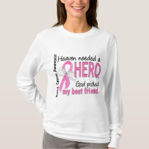 Heaven Needed A Hero Best Friend Breast Cancer T-Shirt
