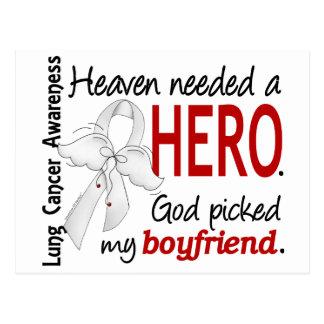 Heaven Needed a Hero Boyfriend Lung Cancer Postcard