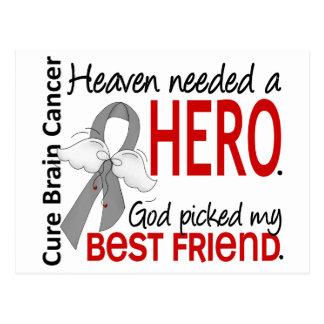 Heaven Needed a Hero Brain Cancer Best Friend Postcard