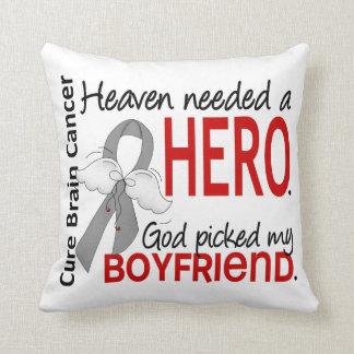 Heaven Needed a Hero Brain Cancer Boyfriend Throw Pillow