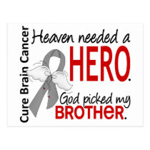 Heaven Needed a Hero Brain Cancer Brother Postcard