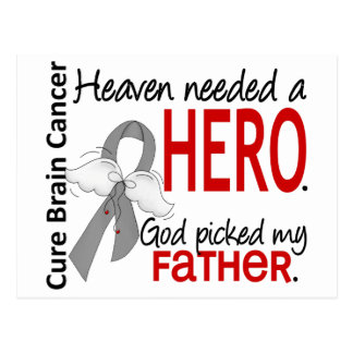 Heaven Needed a Hero Brain Cancer Father Postcard