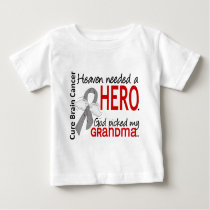 Heaven Needed a Hero Brain Cancer Grandma Baby T-Shirt