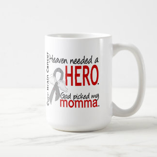 Heaven Needed a Hero Brain Cancer Momma Classic White Coffee Mug