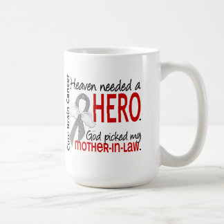 Heaven Needed a Hero Brain Cancer Mother-In-Law Classic White Coffee Mug