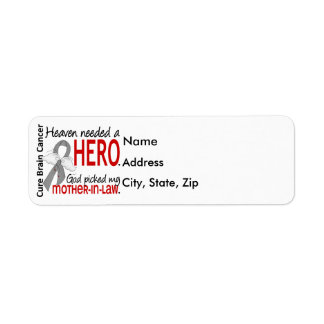 Heaven Needed a Hero Brain Cancer Mother-In-Law Label