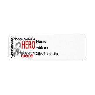 Heaven Needed a Hero Brain Cancer Niece Label