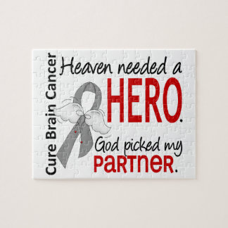 Heaven Needed a Hero Brain Cancer Partner Puzzle