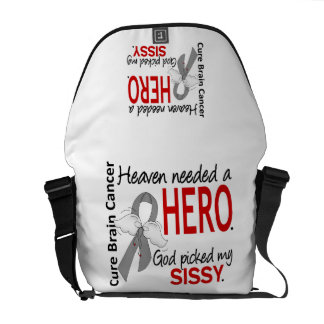 Heaven Needed a Hero Brain Cancer Sissy Courier Bags