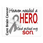 Heaven Needed a Hero Brain Cancer Son Postcard