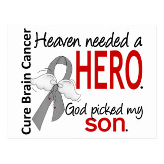 Heaven Needed a Hero Brain Cancer Son Postcard