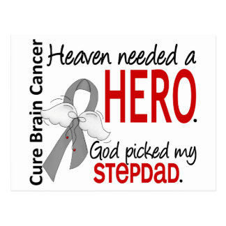 Heaven Needed a Hero Brain Cancer Stepdad Postcard