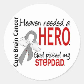 Heaven Needed a Hero Brain Cancer Stepdad Sticker