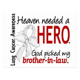 Heaven Needed a Hero Brother-In-Law Lung Cancer Postcard