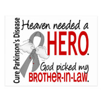 Heaven Needed a Hero Brother-In-Law Parkinson's Postcard