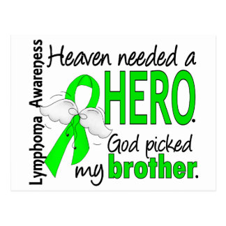 Heaven Needed a Hero Brother Lymphoma Postcard
