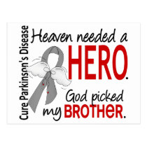 Heaven Needed a Hero Brother Parkinson's Postcard
