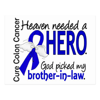 Heaven Needed a Hero Colon Cancer Brother-In-Law Postcard