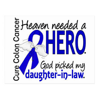 Heaven Needed a Hero Colon Cancer Daughter-In-Law Postcard
