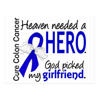 Heaven Needed a Hero Colon Cancer Girlfriend Postcard