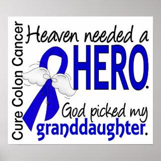 Heaven Needed a Hero Colon Cancer Granddaughter Poster