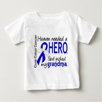 Heaven Needed a Hero Colon Cancer Grandma Baby T-Shirt